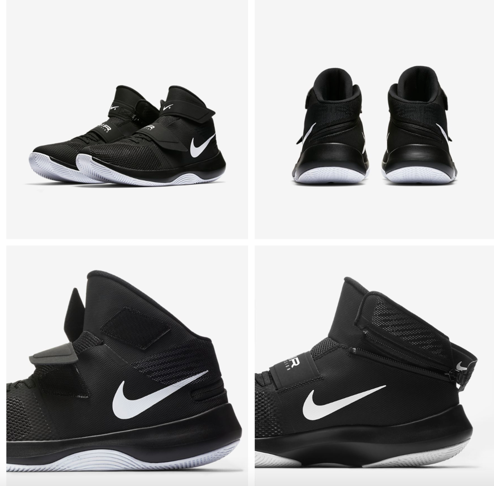 NIKE     FLYEASE    This sneaker offers lace-free technology and is made for quick movement and heavy landings while playing.