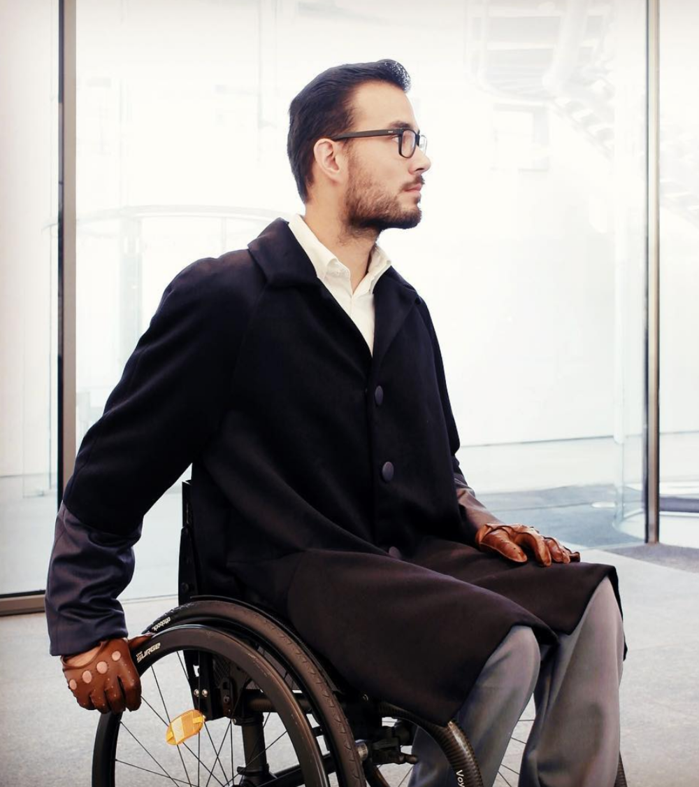 CHAIRMELOTTE      WHEELCHAIR COUTURE       The Chairmelotte is known for their attention to details. For instance their dresses for women with seated body types are two-pieces made to look like one.