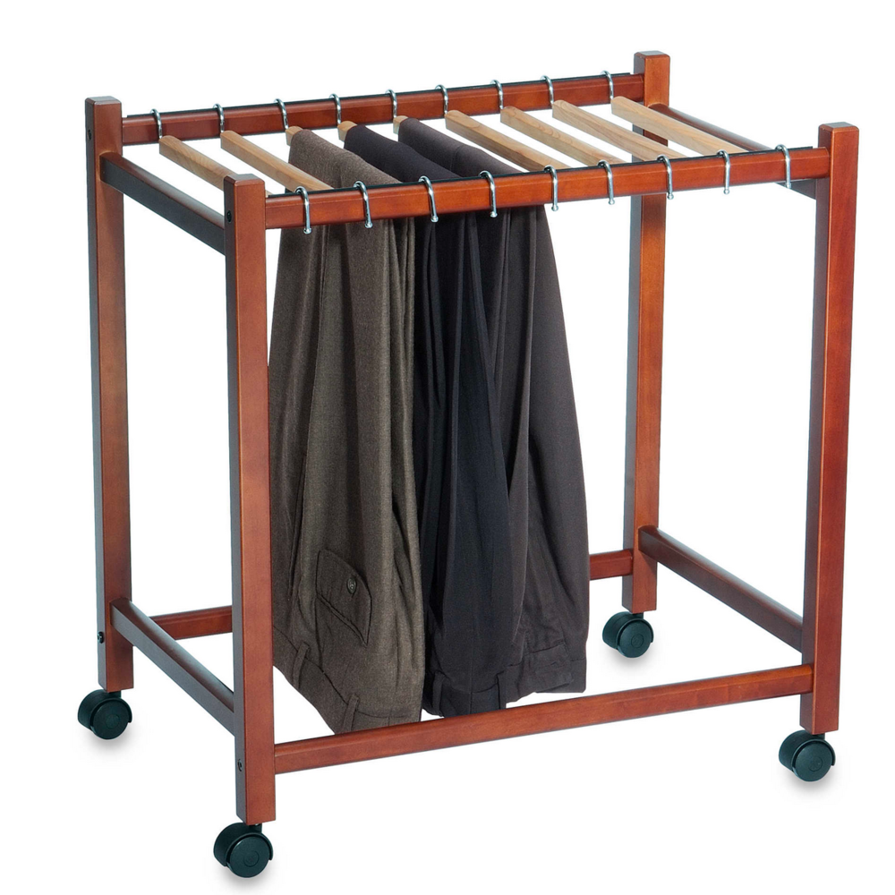 WOODLORE PANT TROLLEY $49.99    Part of being independent is being able to fully access the clothing in your closet. This trolley may be used as an extension of an unaccessible closet.