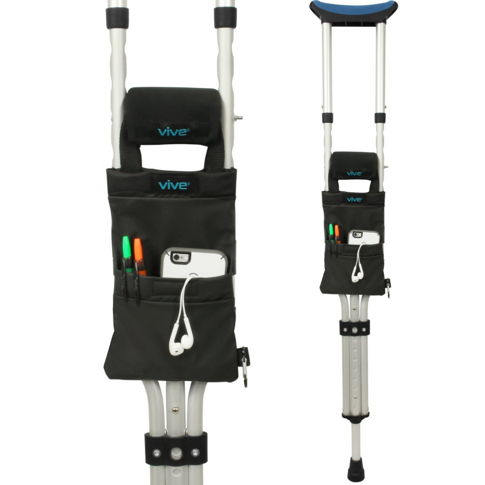 VIVE     CRUTCH BAG $14.99    This is a smart stocking stuffer for someone who's recently injured themselves and using crutches for while.