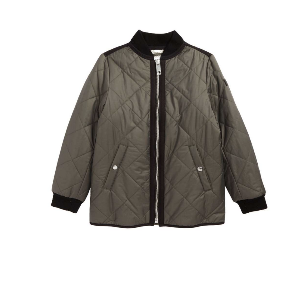 BURBERRY QUILTED JACKET $425.00    If your loved one is a luxury shopper, this is a great example of a jacket for a little girl that may easily be worn by little women.