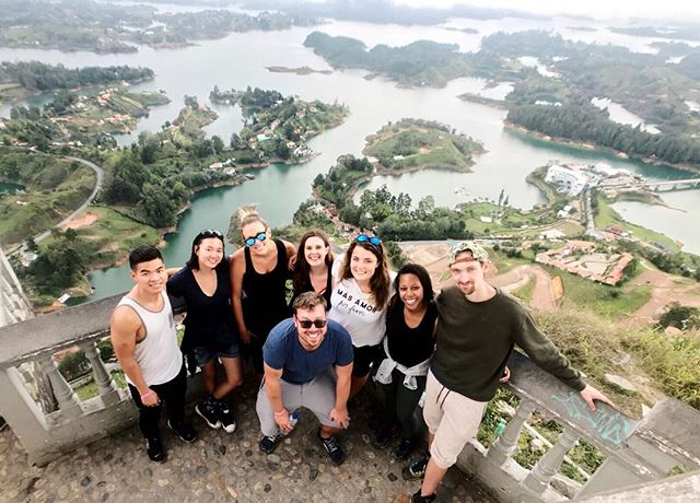 Spent yesterday playing paintball at Pablo Escobar's summer house, exploring the colorful town of Guatapé, and then hiking up 675 stairs for this epic view. #SolidSaturday  _____________________ ✍🏻: Day 294 / 365 🗓: 19 May 2018 📍: Guatapé, Colombia