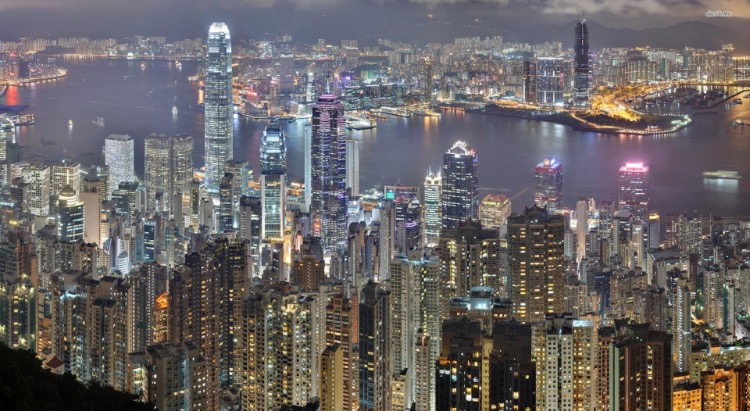 The wonderful Hong Kong Skyline