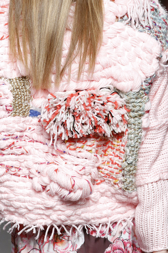 Knitting pieces for Amai Rodriguez
