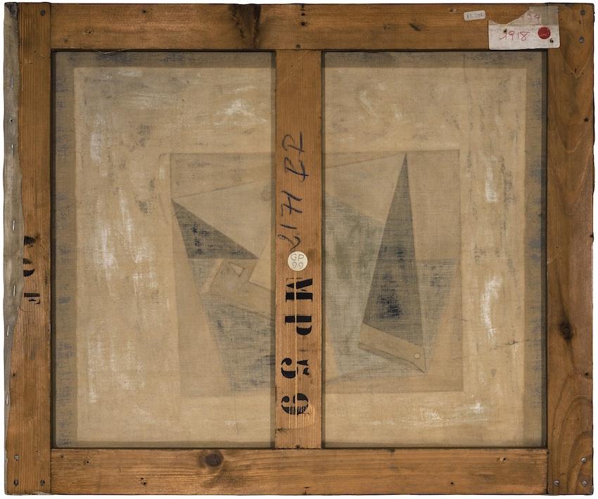 Philippe Gronon Verso n°61, Verre et Pipe, Pablo Picasso, collection Musée National Picasso, Paris - 2016 Photographie analogique couleur, épreuve numérique pigmentaire, 57,1 x 67,8 cm