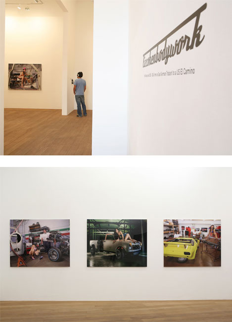 Liz Cohen Exhibition views, bodywork, galerie Laurent Godin, Paris, 2006
