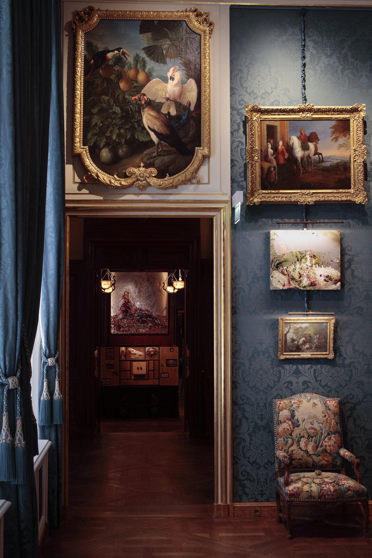 Vue d'exposition : En plein coeur , Musée de la Chasse et de la Nature, Paris 2017