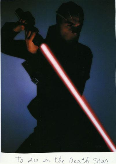 To die on a Death Star, 2009 Collage et stylo à bille sur papier / collage and ballpen on paper 21 x 30 cm, unique
