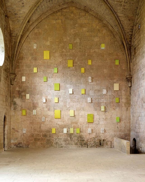 Vue d'exposition : dans le jardin des simples, Abbaye de Silvacane, du 10 juin au 20 août 2017