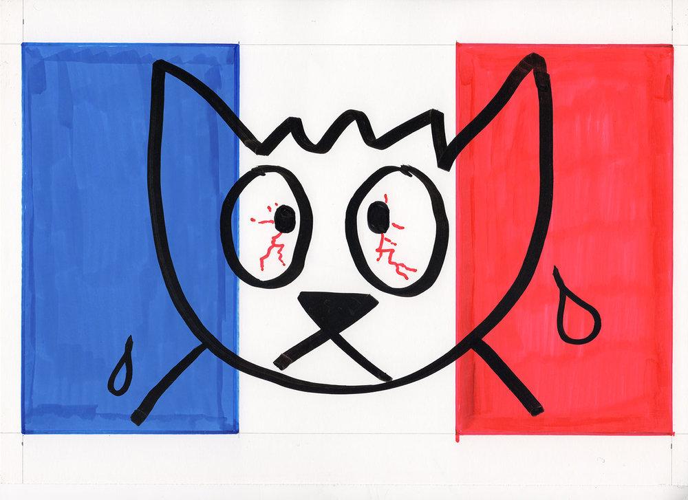 Alain Séchas, drapeau