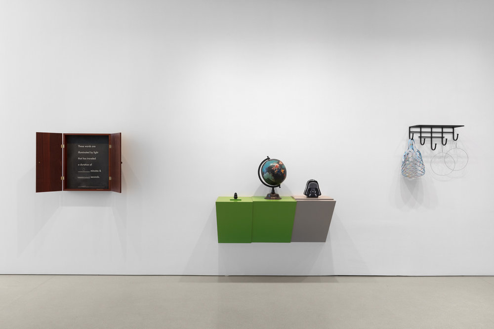 Installation view of Dime-Store Alchemy at The FLAG Art Foundation, 2018. Photography by Steven Probert.