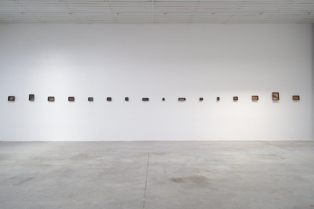 Marc Couturier ,  Bois , Exposition à la Galerie Barnoud, Quetigny, 2018.