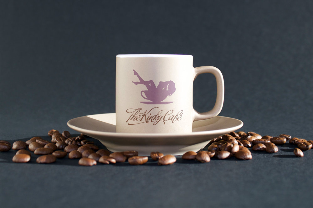 The Kinky Cafe coffee cup mockup