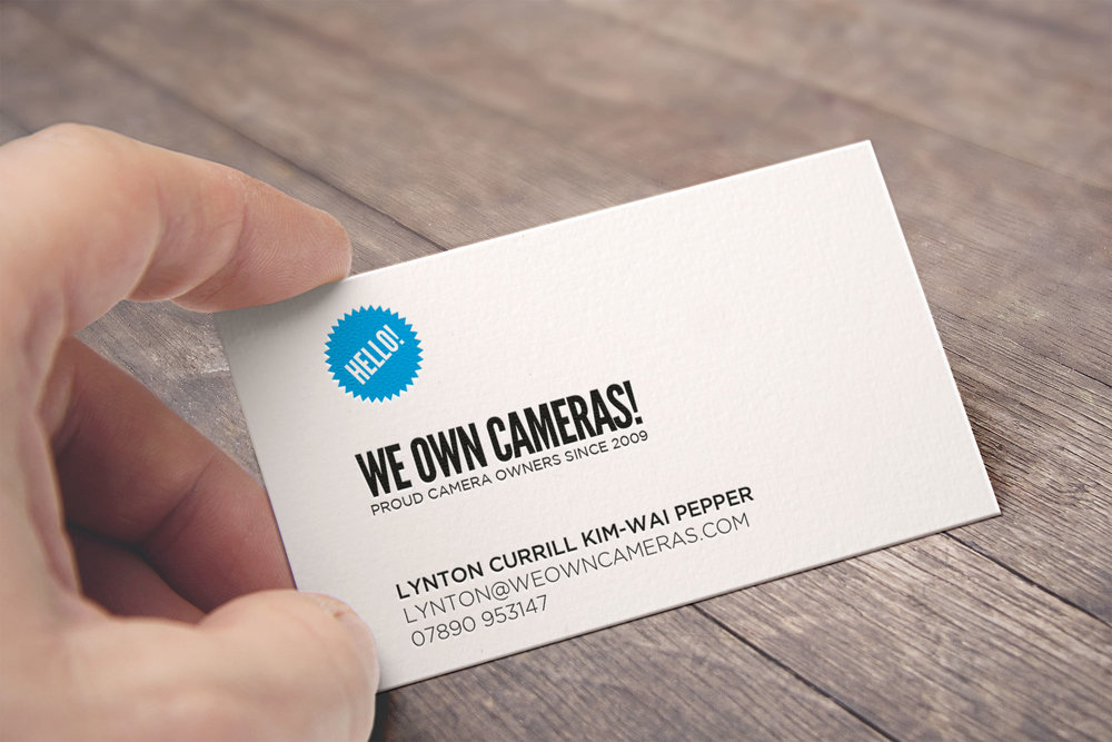 We Own Cameras business cards