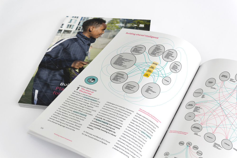 Building Impact Movements report double page spread