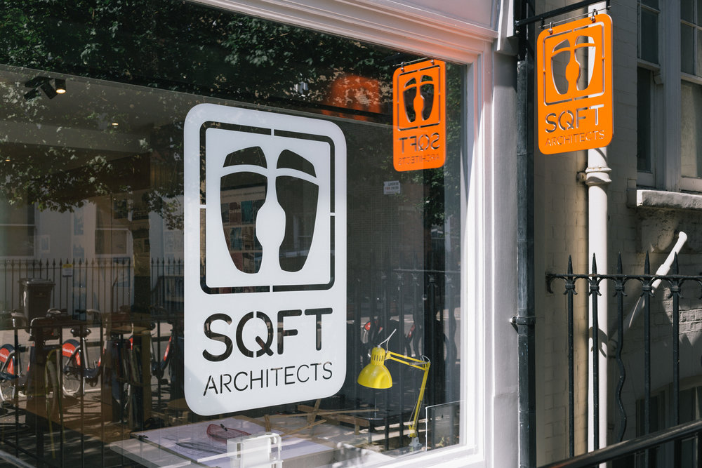 Square Feet Architects Marylebone sign