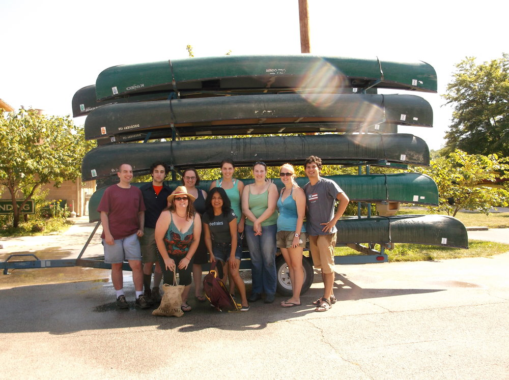 Young Adults canoe trip