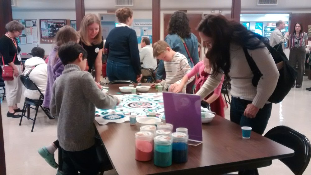 Making a Mandala during fellowship hour