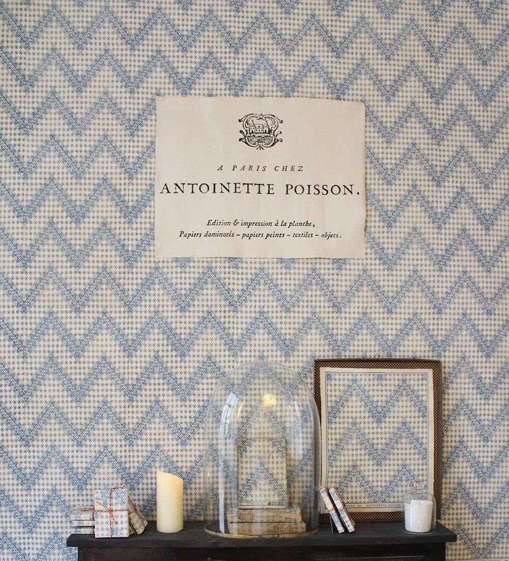 L'expo  Papiers Dominotés et autres merveilles  chez Antoinette Poisson