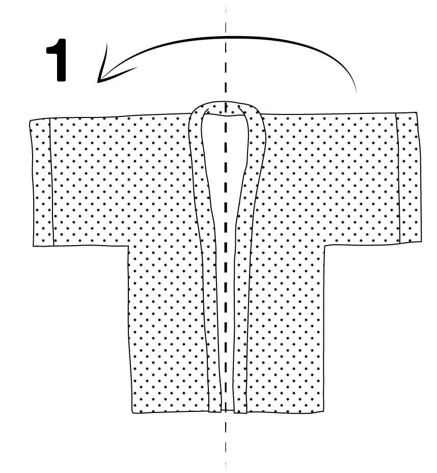 Étendre le kimono.