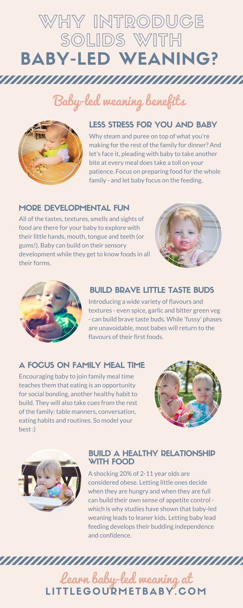 Why introduce solids with baby-led weaning? Baby-Led Weaning Benefits [INFOGRAPHIC] - Click for full-size!