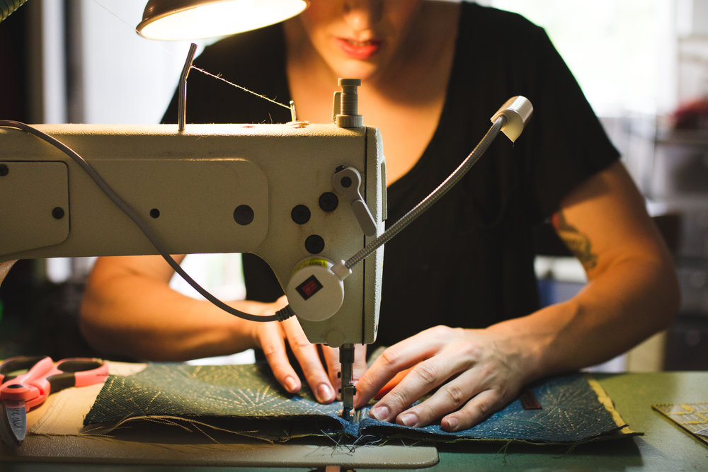 Working Portrait Detail Sewing