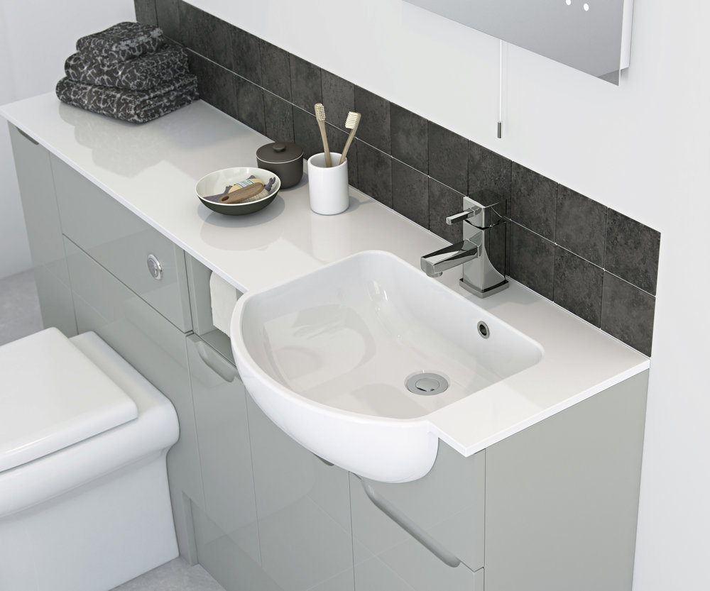 Arco Worktop Mineral Cast Basin with LH Combined Worktop 320 Deep (pg42).jpg