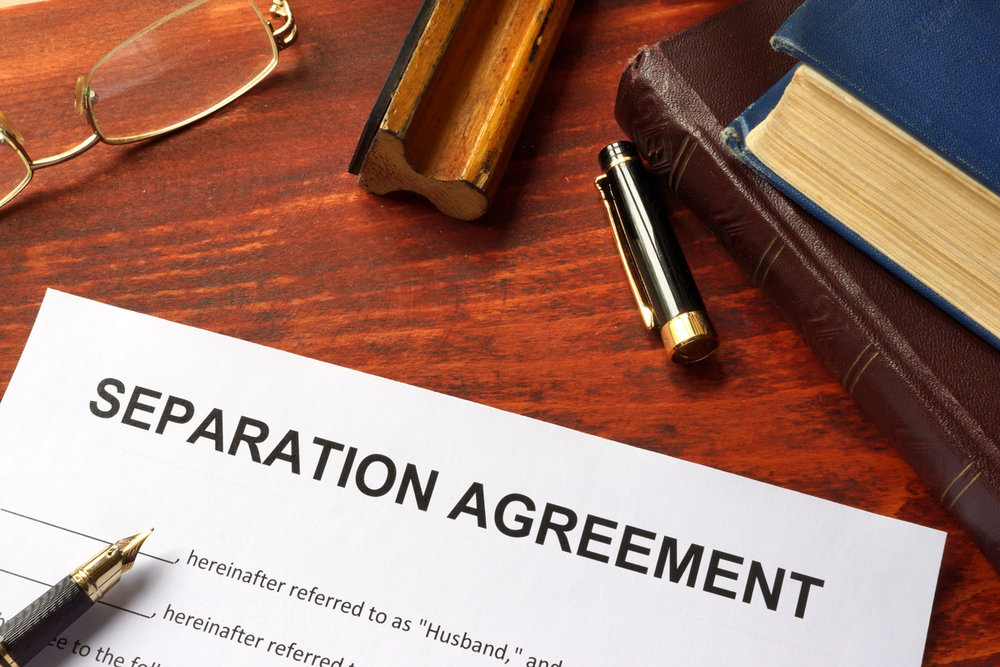 A separation agreement in an uncontested divorce