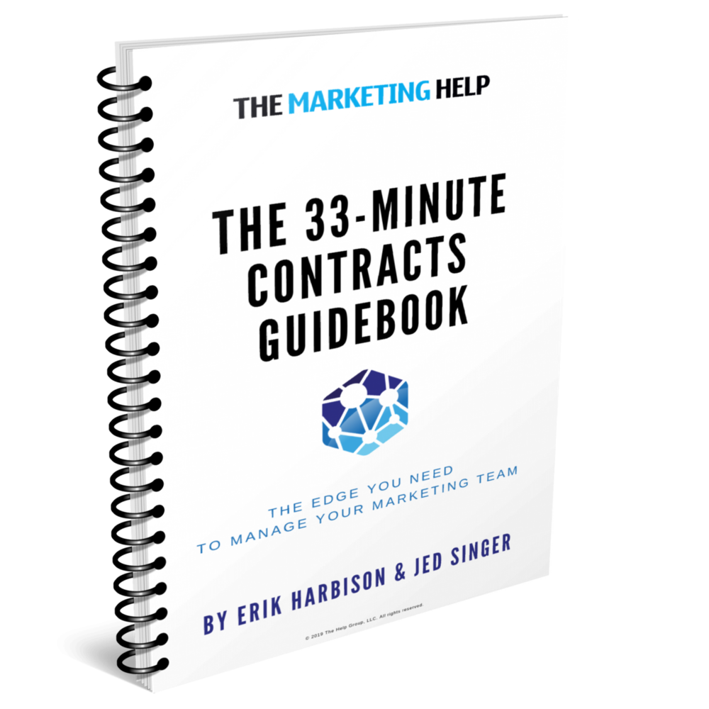 The 33-Minute Agency Contracts Guidebook - Need a better understanding of marketing contract best practices? Here's your shortcut up the trail…Our 33-Minute Guidebooks provide mastery in various career subjects in only — you guessed it — about half an hour.