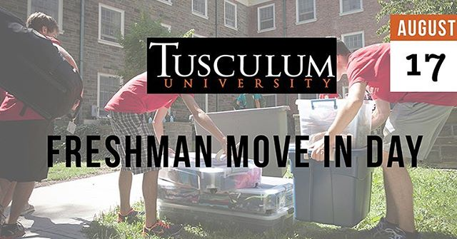 Don't forget about our TU freshman move in day tomorrow! Meet at the Chic-Fil-A on campus at 7:30am if you're interested!