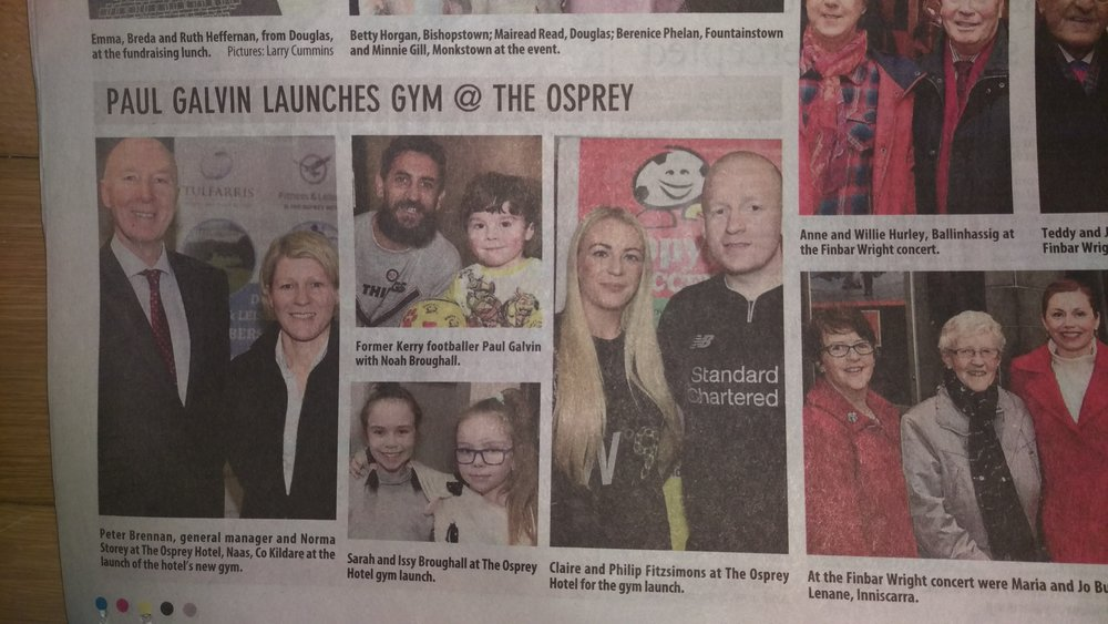 Paul Galvin, Osprey Gym staff and the public launching the new gym in Naas