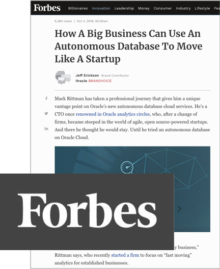 Forbes Magazine, Oct 2018