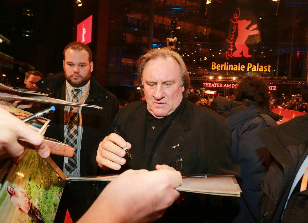 Gerard Depardieu auf der Premiere von SAINT AMOUR, Berlinale 2016.