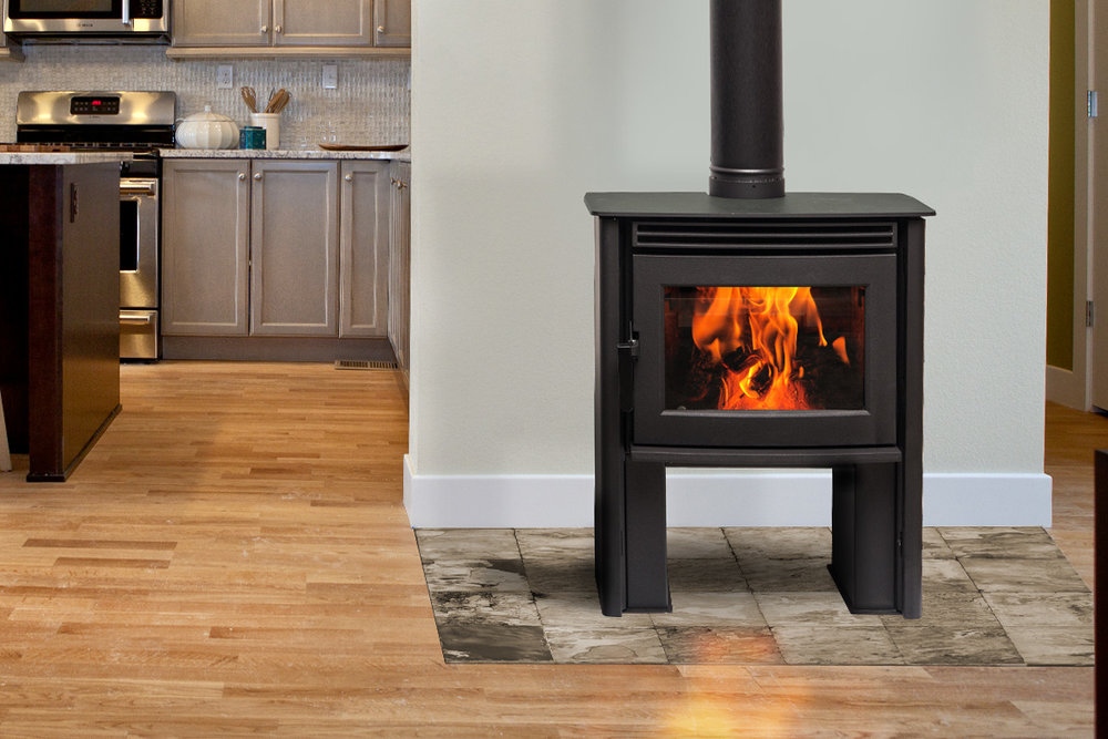 Pacific Energy Neo 1.2 - non-catalytic wood stove - 30,200 peak btu/hr