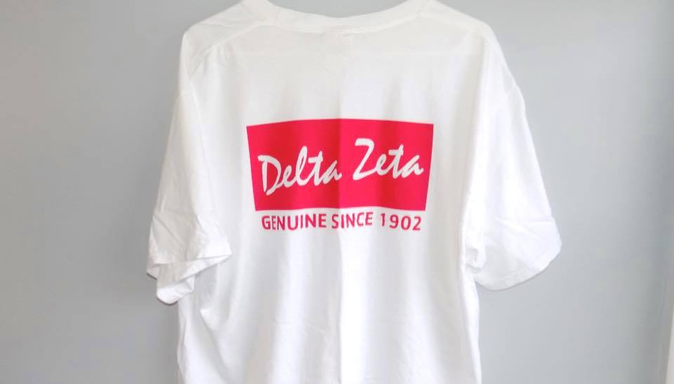 RayBan-Inspired Delta Zeta TShirt Customer Image. Shirt designed by me for The Greek Years.