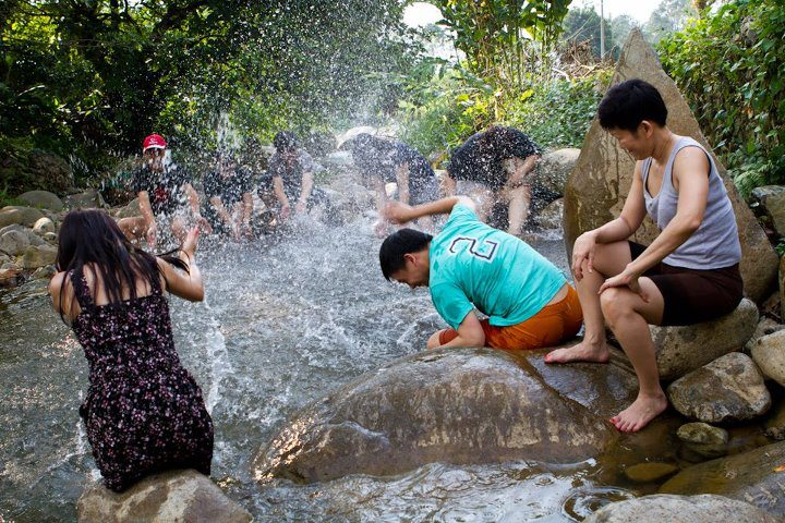 Having fun at our Chemperoh River located at the entrance of the Resort