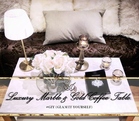 Giy Luxury Marble Gold Coffee Table Shakira Scott