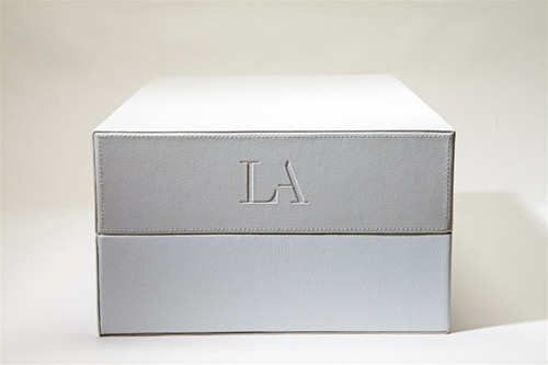 LA LEATHER BOX - GREY/WHITE