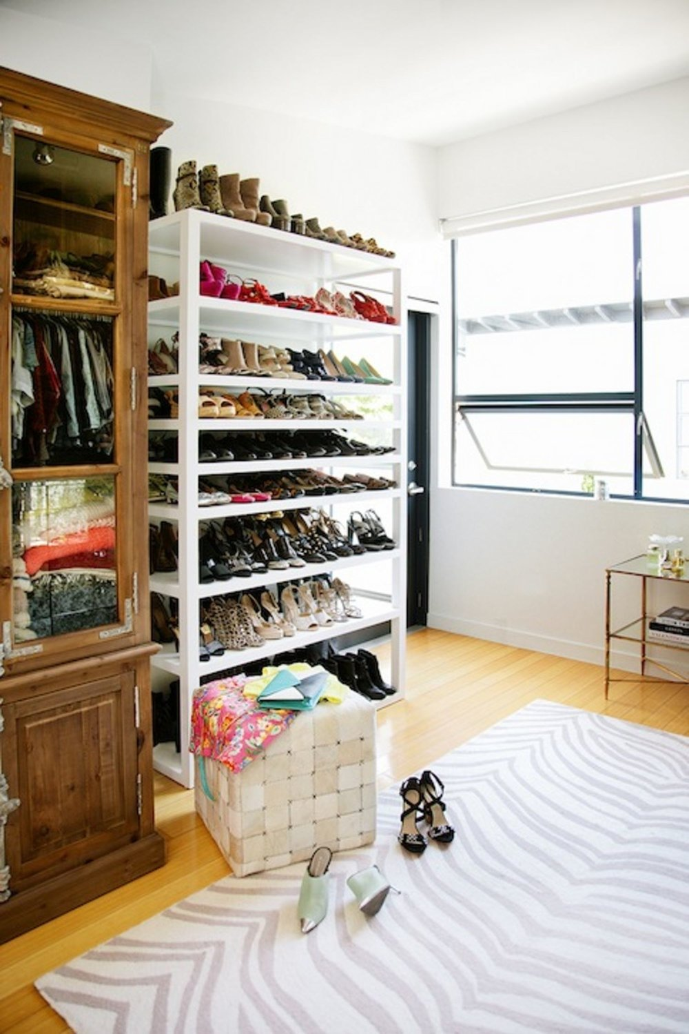 Tip: While Whitneyu0027s Shoe Shelf Was Custom, You Can Get A Similar Look With  The Parsons Tower From West Elm.