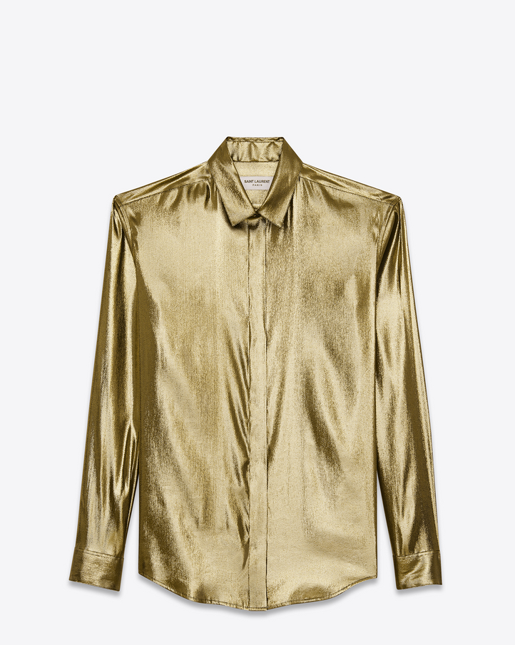 Saint Laurent - Classic Gold Lamé Shirt
