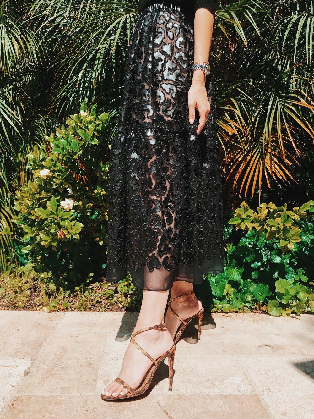 Skirt: Stella Mccartney | shoes: Aquazzura | Photo: Drew Evans
