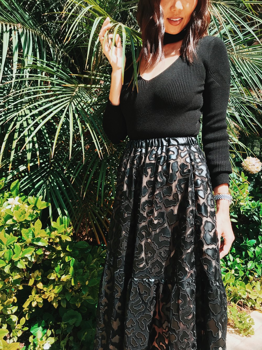 Skirt: Stella Mccartney | Bodysuit: Cushnie et ochs | Hair: Nicolas Flores | Make-up: Blushington | Photo: Drew Evans