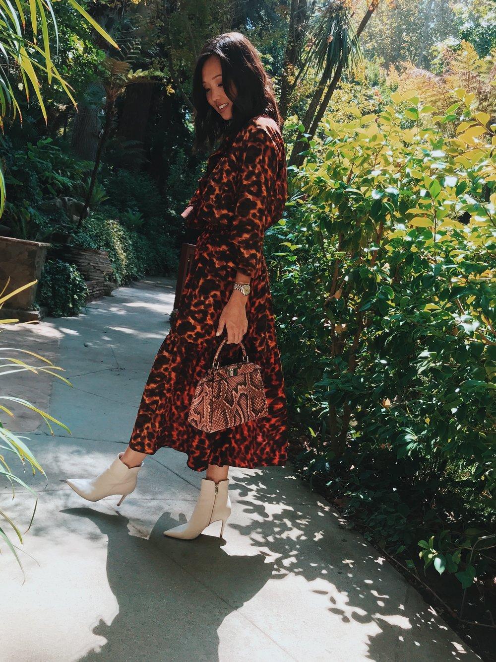 skirt + top: Stella mccartney | boots: Gianvito rossi | python bag: fendi | Hair: nicolas flores | Make-up: Blushington | Photo: Drew evans