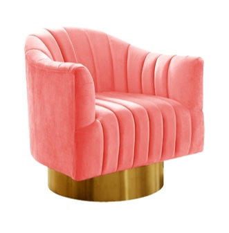 Cozy up to living coral with a colorful accent chair!