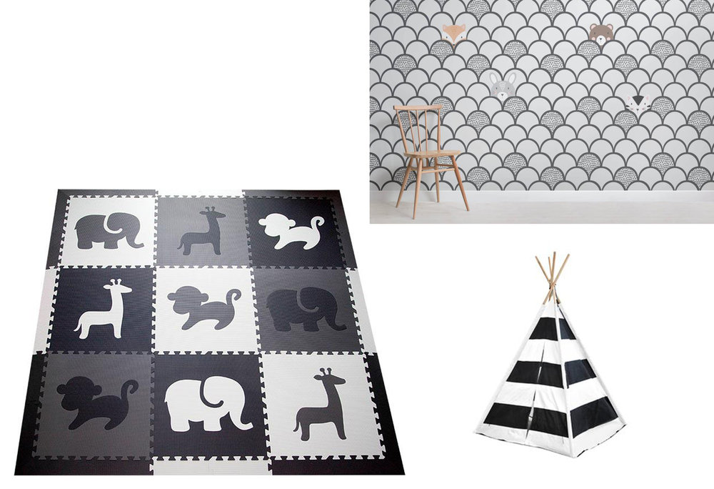 PLAY MAT  |  POP-UP TENT  |  WALLPAPER