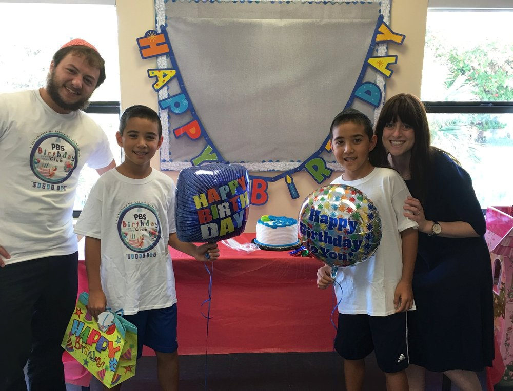 Birthday Club - A special home visit from PBS Youth DirectorsA Jewish birthday has special significance. It is the day on the Jewish Calendar that G-d decided the world cannot exist without you! To celebrate this special day, the day of your Jewish birthday, PBS Youth Directors will visit your home with a special birthday kit just for you to enjoy with your family. It will be a birthday bash like no other!