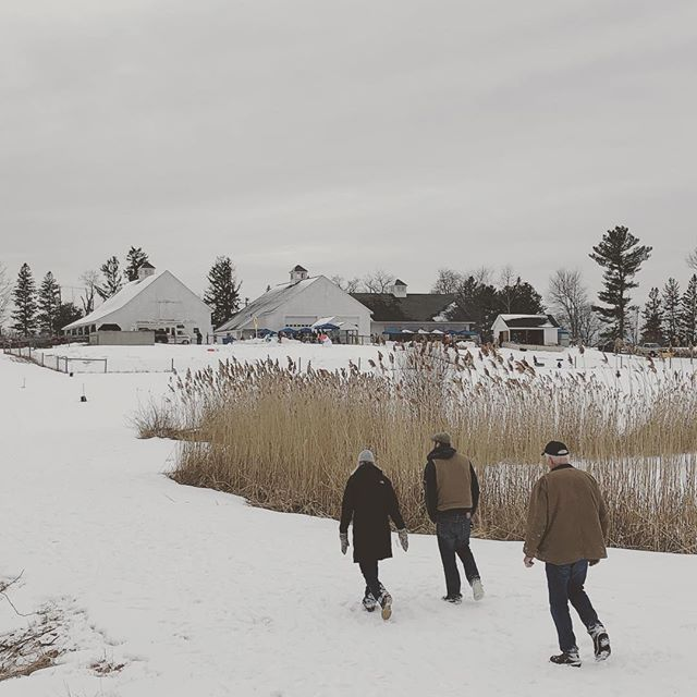 Late winter festival at a barn complex in Harvard, Ma #circlebbarns #barndepot #handcrafted #newengland #newenglandwinter #barndepot  #circlebbarns