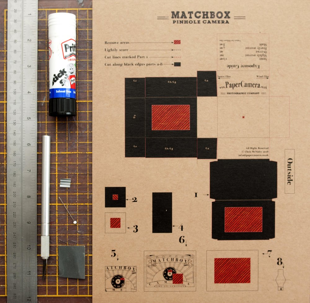 The flat pack Matchbox camera