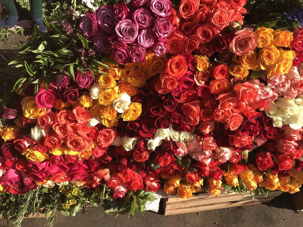Flower market. Oaxaca, Mexico.