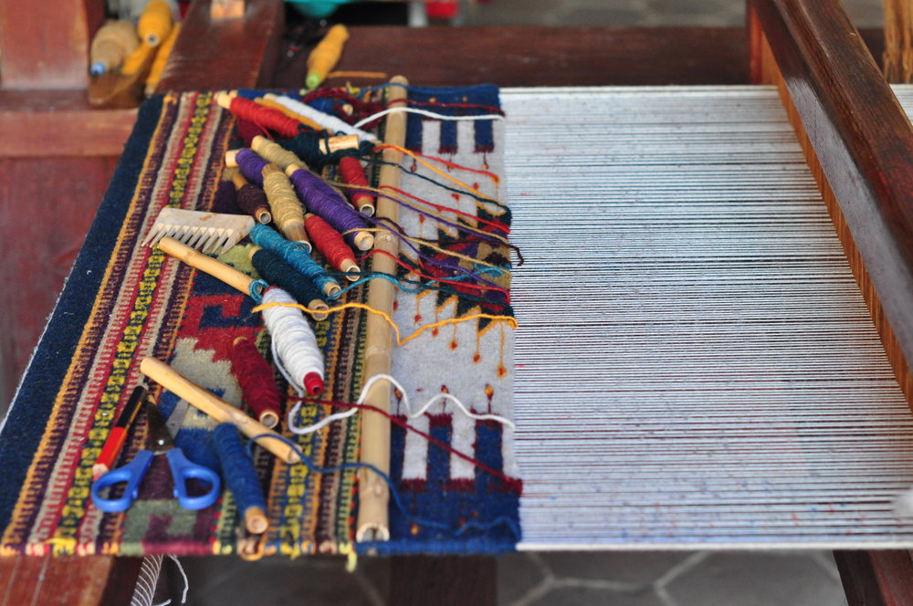 Her father's loom.